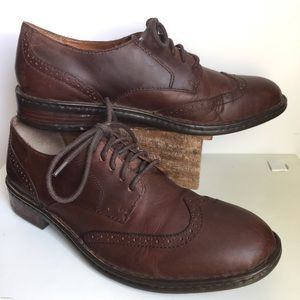 Born brown leather Oxford shoes 9.5